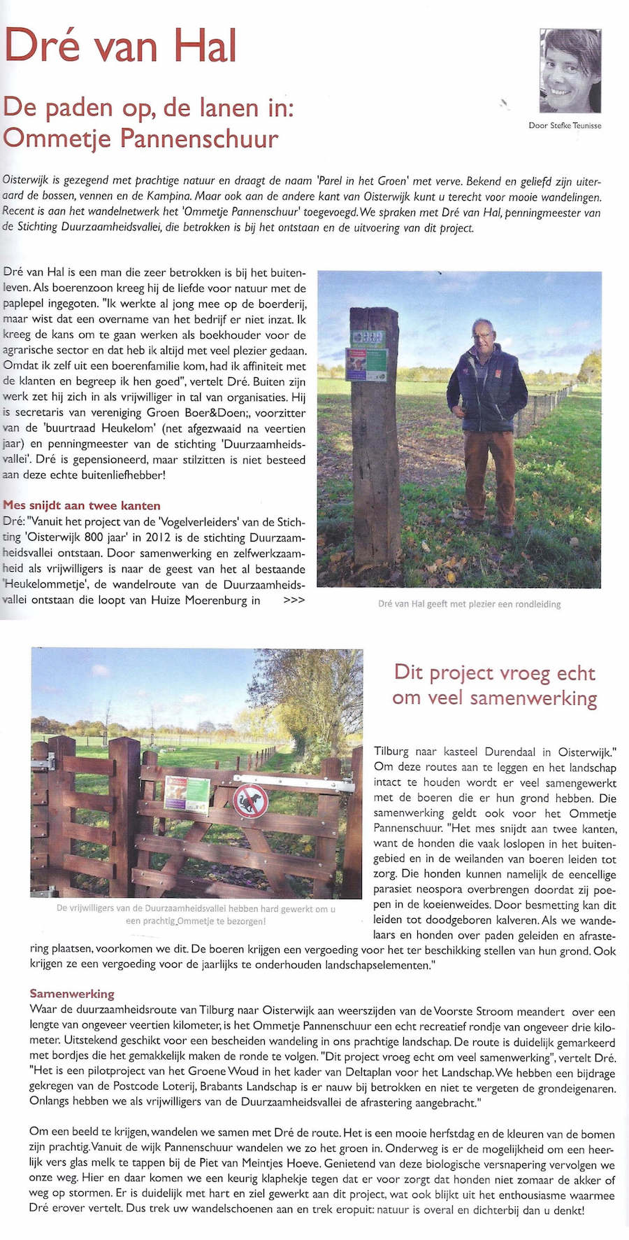 Duurzaamheidsvallei - project Ommetje Pannenschuur